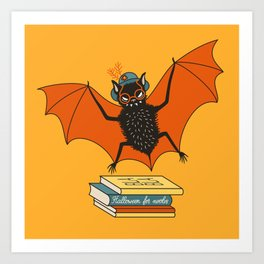 Bat granny book lover Art Print