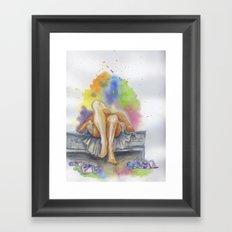 Last Night is a Blur Framed Art Print