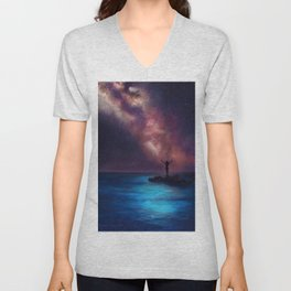 Between the Stars and the Sea Unisex V-Neck