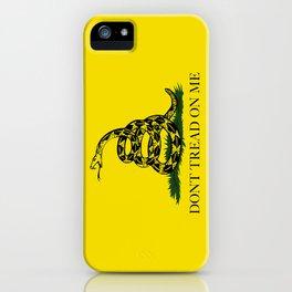 Gadsden Don't Tread On Me Flag iPhone Case