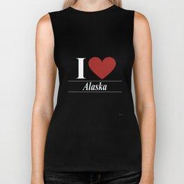 I Love Alaska Biker Tank