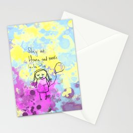 Stay at home and make lalala Stationery Cards