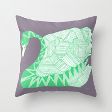 Aztek Swan Throw Pillow