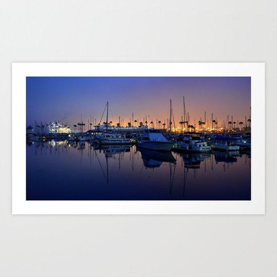 Purple Dawn Marina Art Print