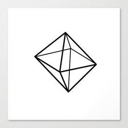 Graphic . geometric shape black Canvas Print