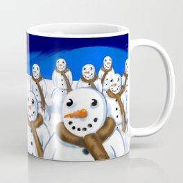 Snowmen Gathering Coffee Mug