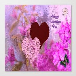 Happy Valentine`s Day Canvas Print