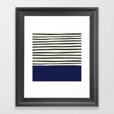 Navy x Stripes Framed Art Print