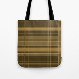 Brown Plaid Tote Bag
