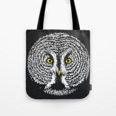 Round Owl Tote Bag