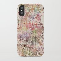 denver iPhone & iPod Cases featuring Denver by MapMapMaps.Watercolors