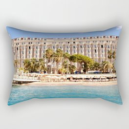 The Always Chic Carlton Hotel in Cannes Rectangular Pillow