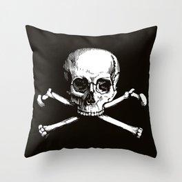 Skull and Crossbones | Jolly Roger Throw Pillow