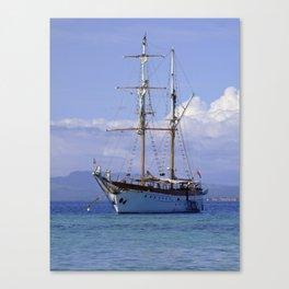Ra Marama, brigantine tall ship, Fiji Canvas Print