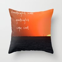 cape cod Throw Pillows featuring Goodnight Cape Cod by KarenHarveyCox