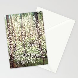 Mandala Vintage Forest Path Stationery Cards