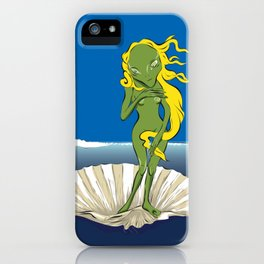 The Birth of Alien Venus iPhone Case