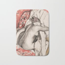 Edgar Degas - After the Bath- Seated Woman Bath Mat