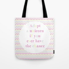 Adopt a Unicorn Tote Bag