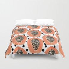 Bold Papayas Duvet Cover