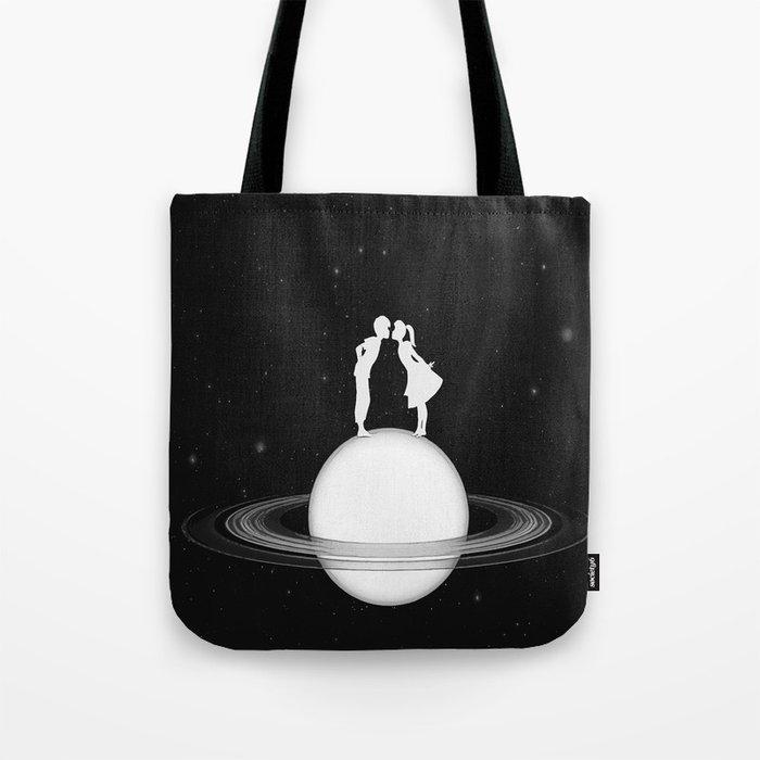 Love on Saturn Tote Bag