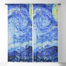 PIXEL STARRY NIGHT Blackout Curtain