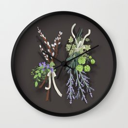 bouquets Wall Clock