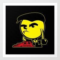 pac man Art Prints featuring Pac-Man by La Manette
