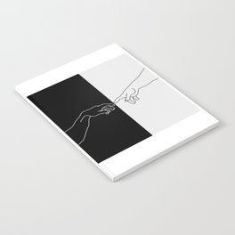 Hands of God and Adam- The creation of Adam Notebook