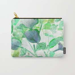 Hosta and English Ivy - Seamless - Inverted Art Carry-All Pouch