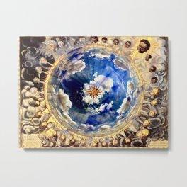 Compass Rose Globe Metal Print