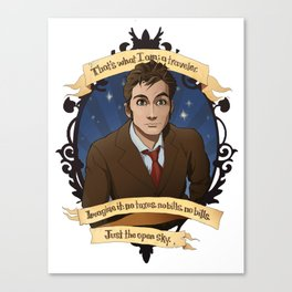 10th Doctor Canvas Print