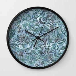 Watercolor Damask Pattern 08 Wall Clock