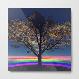 Gradient Rainbow Metal Print