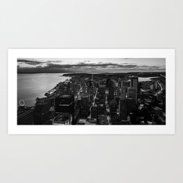 Black and White Seattle - Washington Art Print