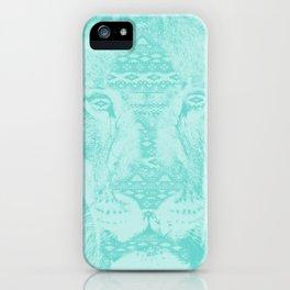 blue lion iPhone Case