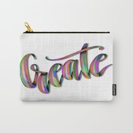 Hand Drawn Typography Lettering Phrase Create Carry-All Pouch