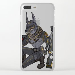 Anubis the protector of Underworld Gift Clear iPhone Case