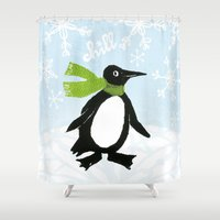 chill Shower Curtains featuring Chill by MollyBroadley