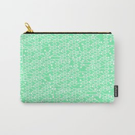 Microchip Pattern (Mint) Carry-All Pouch