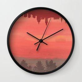 Our Inverted Worlds Wall Clock