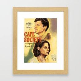 Café Society 1930s Poster Framed Art Print