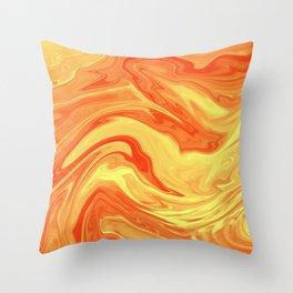 Orange Marble Cute Vibrant Design Throw Pillow