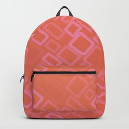 Retro pattern in shades of melon Backpack