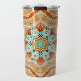 Orange kaleidoscope Star Travel Mug