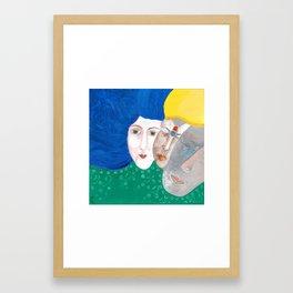 Face the Soul Framed Art Print