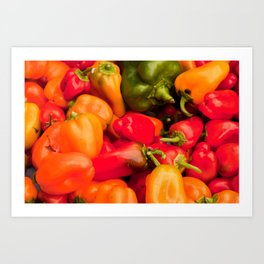 Kitchen Still Life: Hot Peppers Art Print