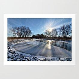 Long Shadows of Winter Art Print