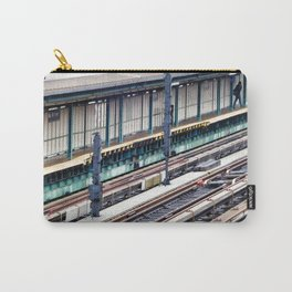 Train platform at Bay 50 street Carry-All Pouch