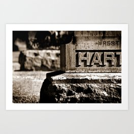 Rest Hart BW Art Print